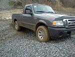 my truck on a rock pile