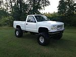 old gmc ...six inch suspension lift 3 inch body on 38s
