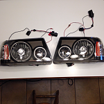 For SALE! 01-11 halo head lamps was only on my truck for 6 months, work great!
