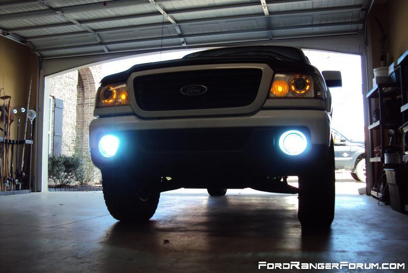 projector retrofit, showing halos and hid fogs