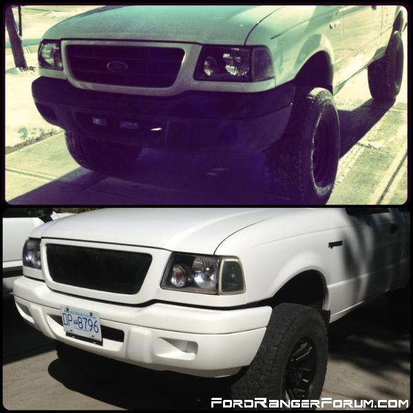 painted bumper, changed rims, and did my own grille