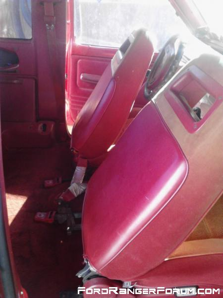 Seats are in good condition. Seatbelt plastic was taped with duct tape by previous owner.