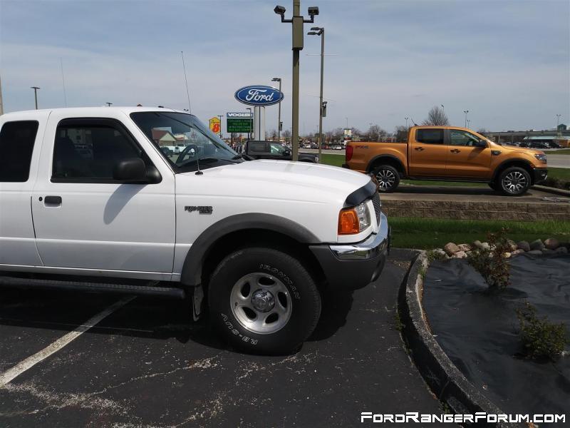 2002 Ranger and 2019 Ranger
