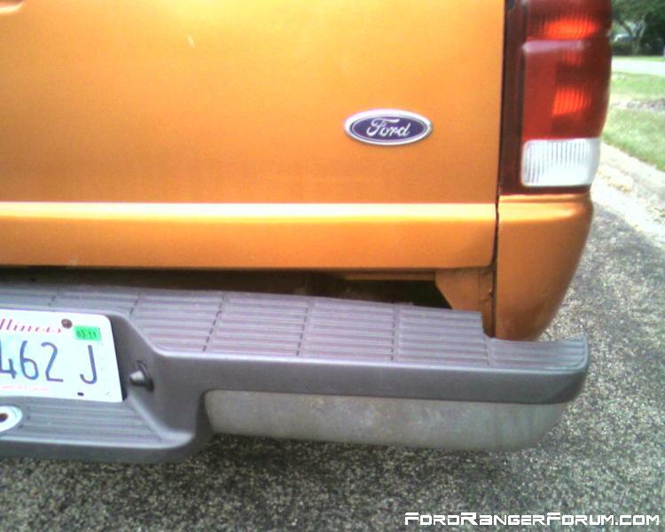 rear bumper right bent