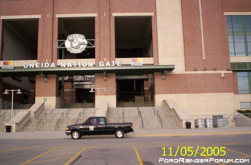 IPBprez truck at Lambeau, finally!  Steeler game, Nov. 2005