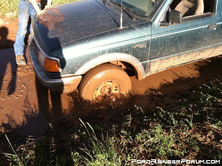 Bottomed out in mud