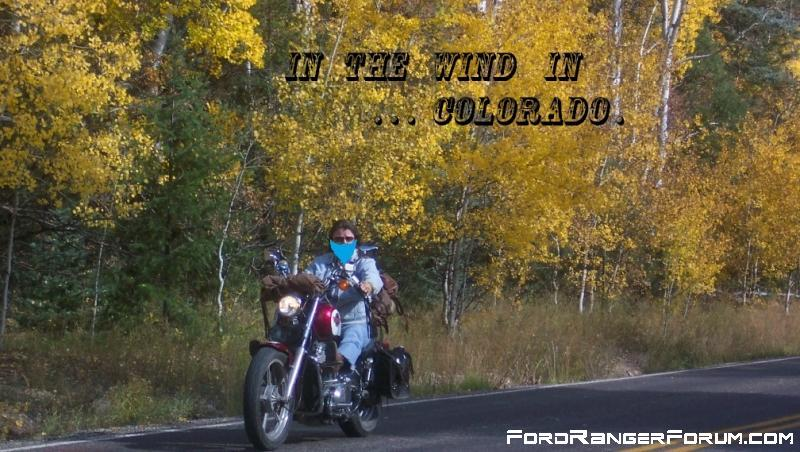 "Me "" In The wind ""  on the Road Home in Telluride, Colorado"