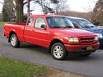 1999 Red Ford Ranger