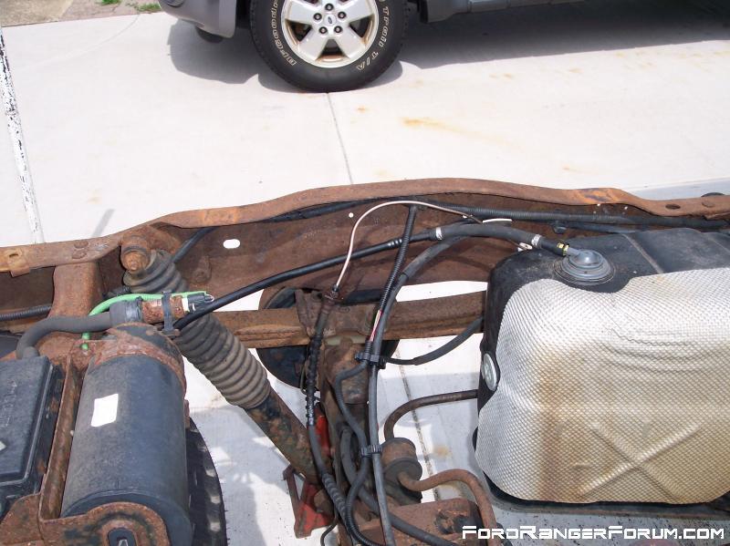 Metal brake line broken.