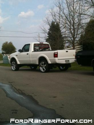 Put the rims on, but the truck sat a little high!