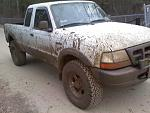 2000 ranger with t bars maxed 3in body lift and 33s