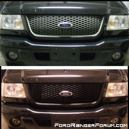 before and after the grill black out
