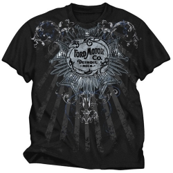 Ford Motor Co. Detroit Mich. Men's Black Tribal Design Tee
